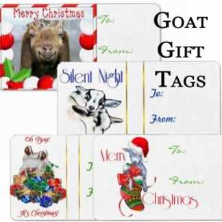 Goat Christmas Tags