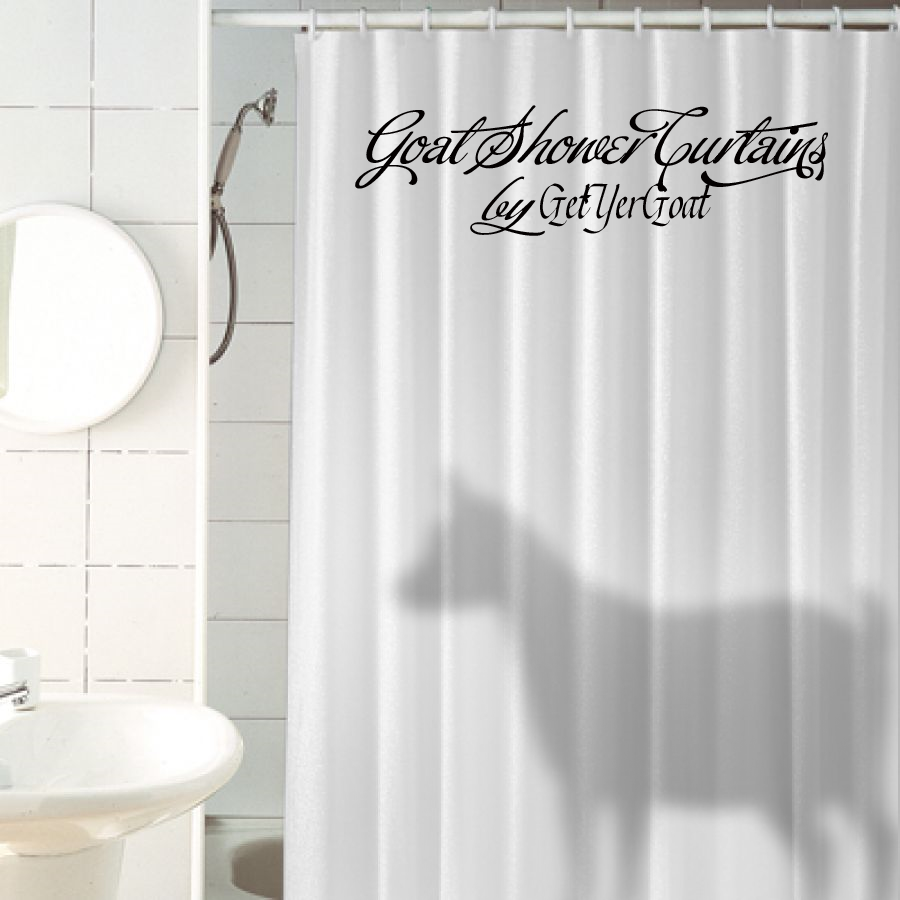 About totally goatally for Funny shower curtains