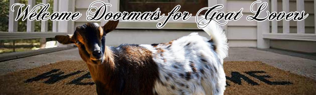 welcome doormats for goat lovers