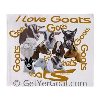 I Love Goats throw blanket