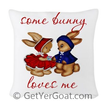 Some Bunny Loves Me Pillow
