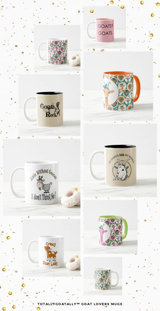 coffee or tea mugs for goat lovers